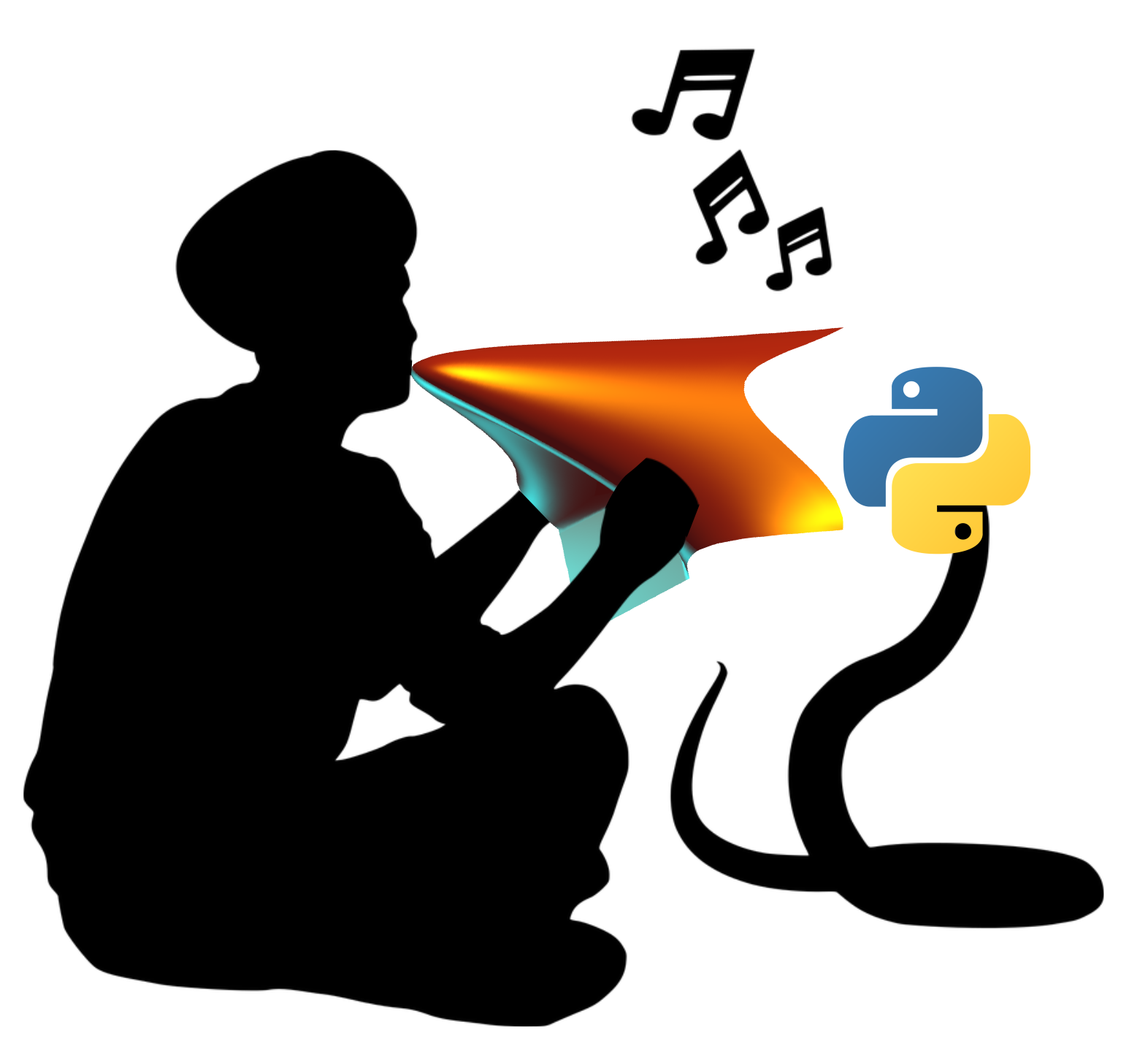 Schematic illustration of calling a Python function from within MATLAB.
